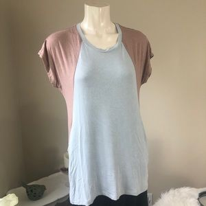 LOGO by Lori Goldstein Tops - LOGO by Lori Goldstein Color block top Small QVC